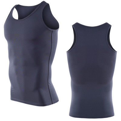 e7d116f4 95 Polyester 5 Spandex Mesh Fabric Mens Athletic Tank Top Anti Wrinkle