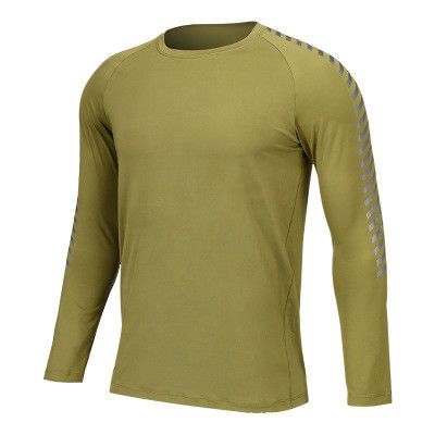 e77b2e26 Large Image : Men Long Sleeve Running T Shirts Dry Fit Fitness Gym Sport Blank  Compression