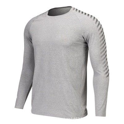 a0b6a05d Men Long Sleeve Running T Shirts Dry Fit Fitness Gym Sport Blank Compression