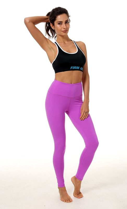 0dd8d0dc283d4 Purple Yoga Pants For Women Polyester Nylon Spandex Non See - Through Fabric