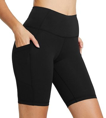 939d89dce8846 ... Tummy Control With Side Pockets · Tight Athletic Workout Shorts , Womens  Compression Leggings High Rise
