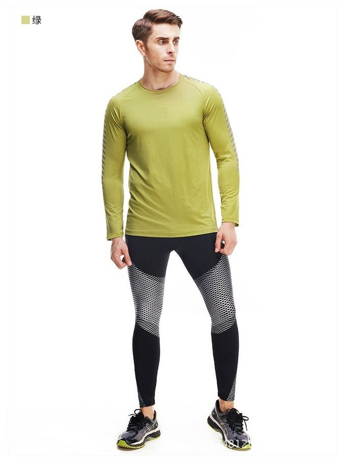 05d27b3f61e6 Men Long Sleeve Running T Shirts Dry Fit Fitness Gym Sport Blank Compression